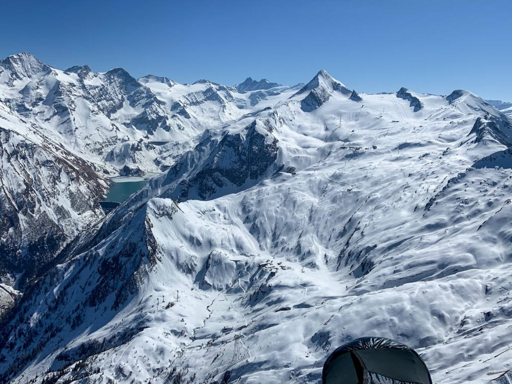 Kaprun Stauseen Tandem Paragliding im Winter