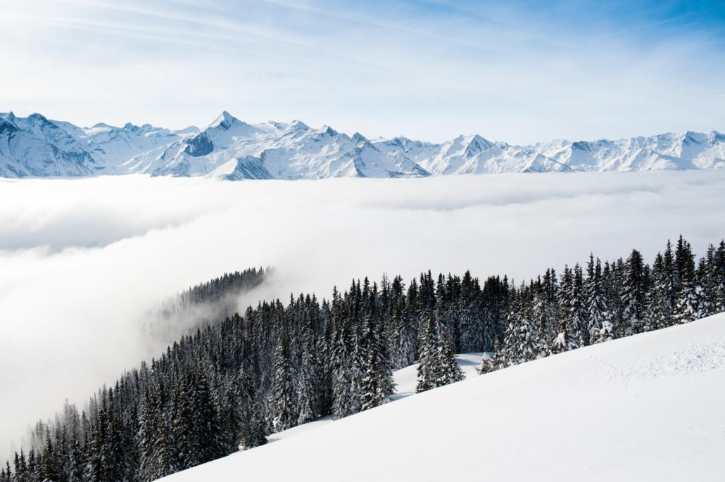 Winter Schmittenhöhe Paragleiten