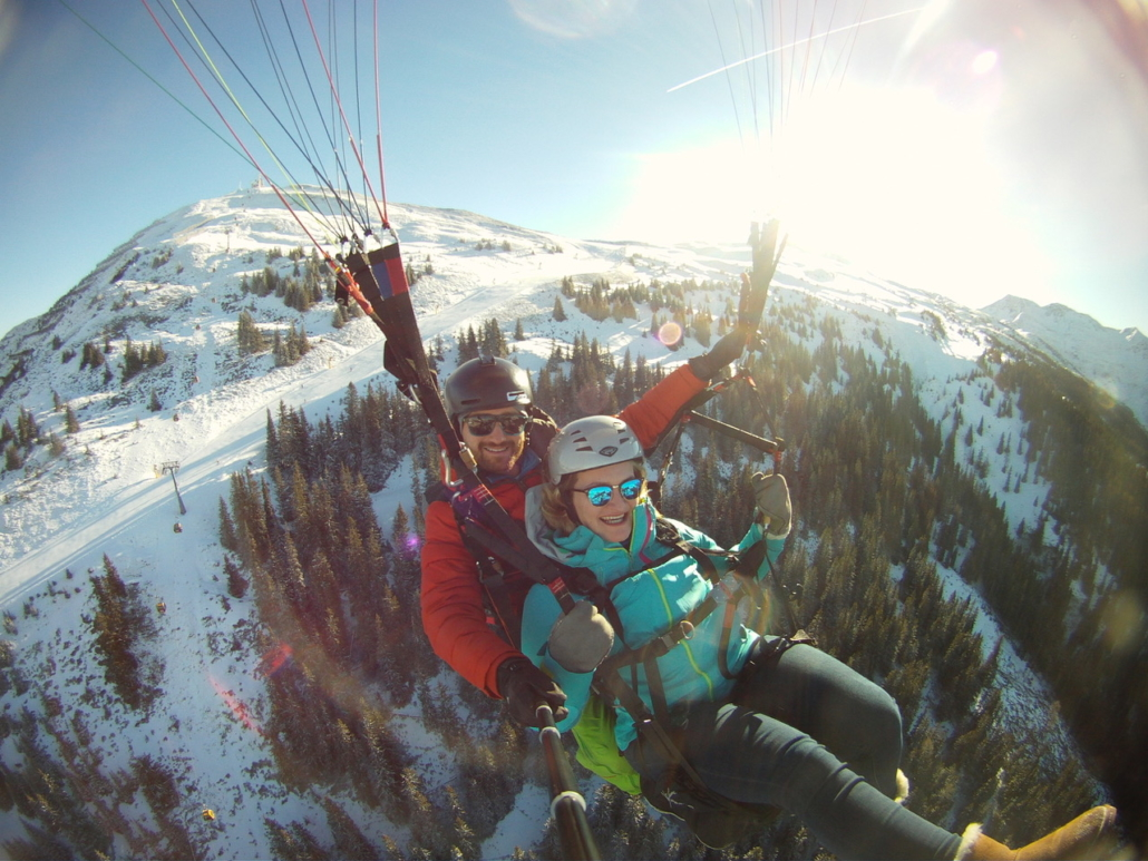 Winter holidays in Austria for paragliding in Zell am See