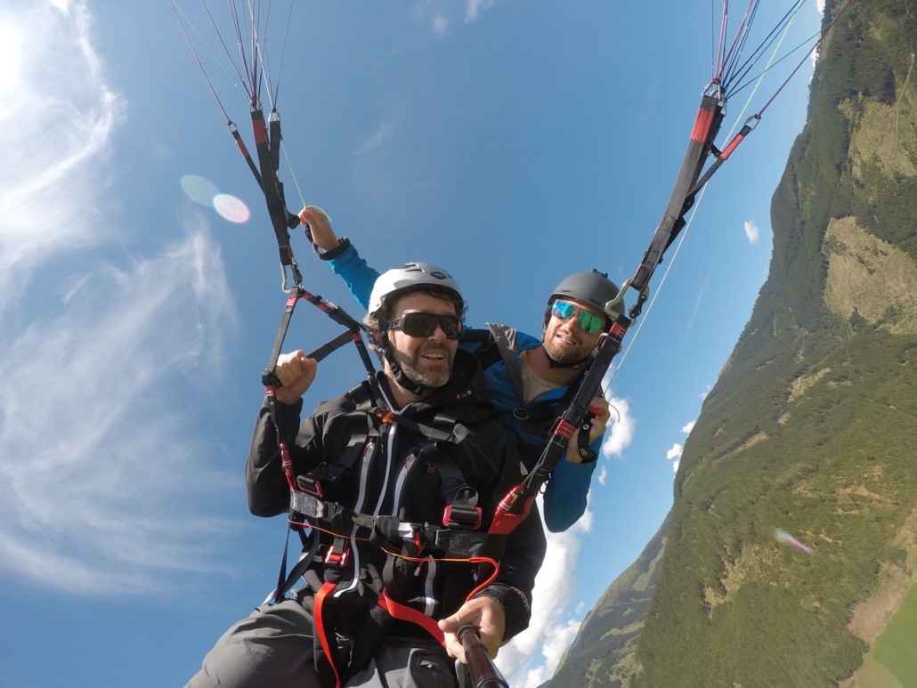 Summer holiday Kaprun paragliding