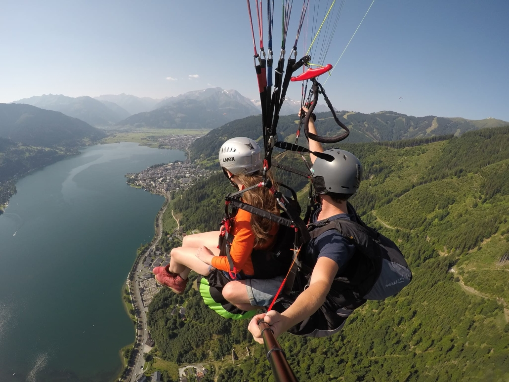 Paragliding in Zell am See in Austria