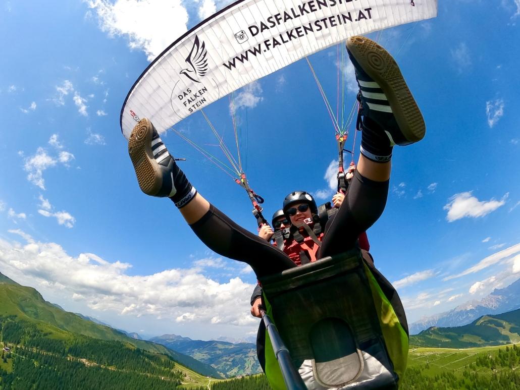 paragliding zell am see mit falken air